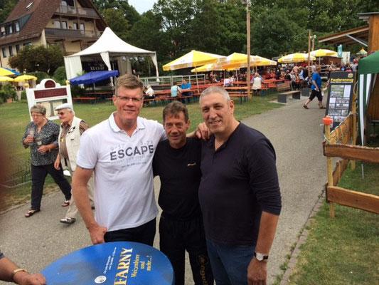 Andreas Schnieders DM1987-1992, Thomas Schuler, Bernd Schwab DM 1985 und 86 beide Schwergewicht zu Besuch auf dem Uferfest 2015 in Langenargen