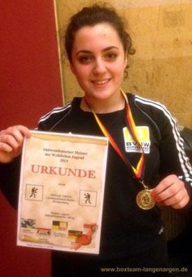 Valmire Mahmuti - Süddeutsche Meisterin 2014