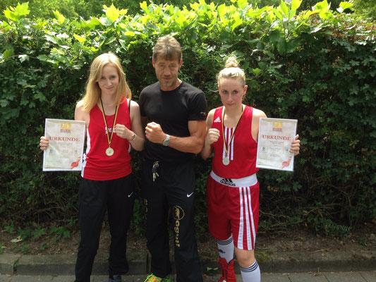 Nina Gessler, BVBW Meisterin 2015 und Sabrina Stotz BVBW-Vize 2015 Schriesheim