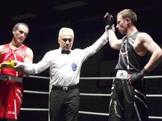 Max Geiger beim Vergleichskampf Boxclub Zürich (CH) vs. Boxteam Langenargen am 07.03.2015