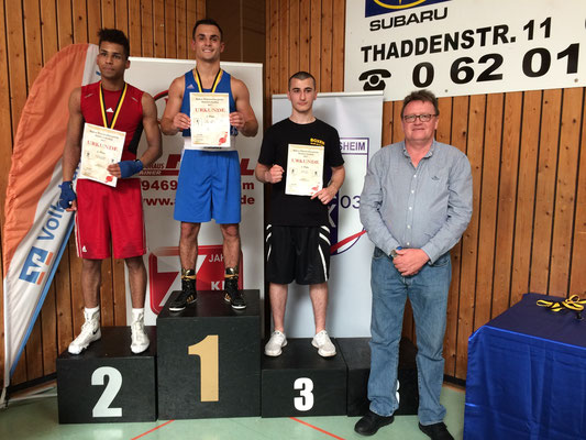 Kushtrim Mahmuti, 1. Platz --baden-Württembergische Meisterschaften mit Uwe Hamann, Präsident BVBW