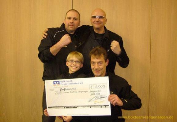 Spende an das Boxteam von Hauptsponsor Andreas Grieger zum 10-jährigen Bestehen 13.01.2014