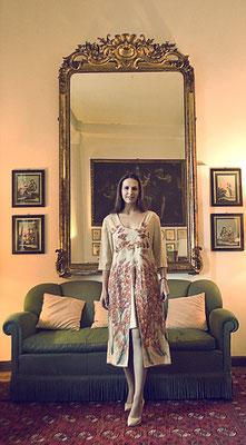 """Renaissance """"Autumn"""" raw silk, italian size 46.    435€"""