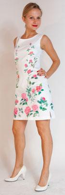 "Audrey "" roses  bianco pure cotton elast. italian size 42.   335€"