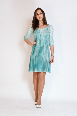 "Tunica ""Lake"" half sleeves/mezze maniche, pure jersey wool,  col. water green, size M.  290€"
