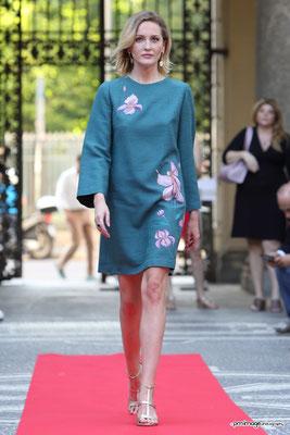 Campana turchese, lilly, size 40/42, silk&wool