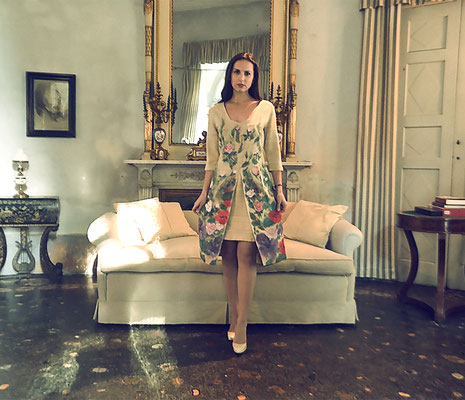 "Renaissance ""Primavera"", raw silk, ital.size 44.  435€"