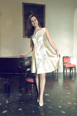 "Danseuse ""fior di pesco"" pure silk ivory/gold  ital.size 44. 395€"