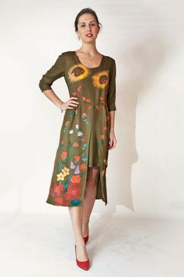 """Renaissance """"scendi dal fiore"""" pure silk, col.bronze, ital.size 42.  435€"""