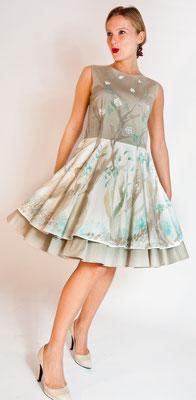 """Fleur de jour """"Bark roses"""" pure cotton, italian size 42.  435€"""