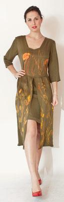 """Renaissance """"Spighe"""" ,  pure silk, color bronze, ital.size 46.  435€"""