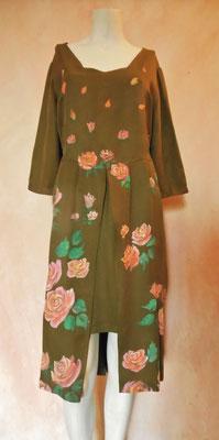 """Renaissance """"Roses"""" pure silk , color bronze, ital.size 44.    435€"""