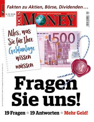 Im Anlegermagazin FOCUS MONEY erscheinen regelmäßig Artikel aus der report media Redaktion