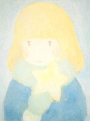 「お星さま」キャンバス29.7×21cm(A4)/アクリル/2011