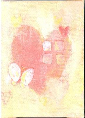「大好きな場所」(売約済み)キャンバス/アクリル/8×6cm