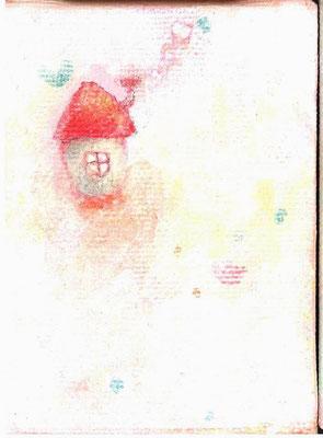 「ちっちゃい お家」キャンバス/アクリル/8×6cm