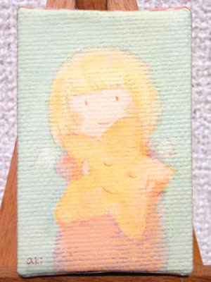 「いつも一緒」(売約済み)キャンバス7×4cm/アクリル/2011