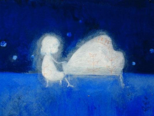 「演奏会~Piano~」(売約済み)水彩紙5.1×7.6cm/アクリル/2011
