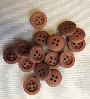 Holzknöpfe aus Birne - 4-Loch