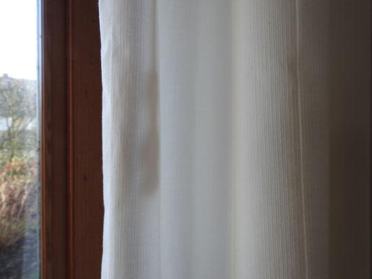 Vorhang aus weißer Baumwolle Ripscharakter