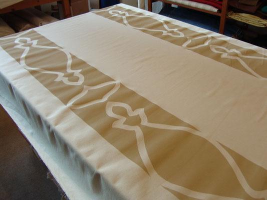 Baumwolle mit bedruckter Bordüre