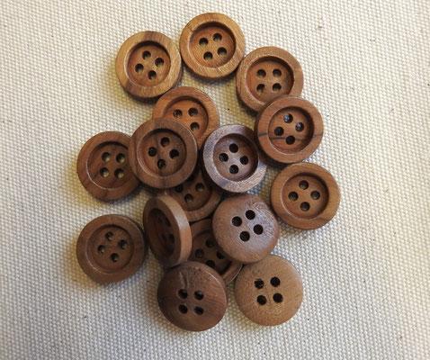 Holzknöpfe aus Olivenholz - 4-Loch