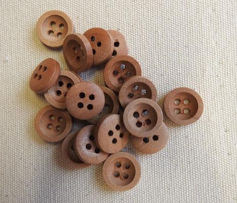 Holzuknöpfe aus Birne - 4-Loch