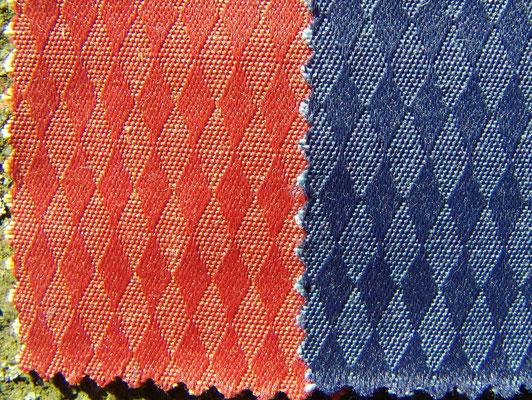 Baumwolle/Polyester Möbelbezugstoff in dunkelblau oder terracottarot