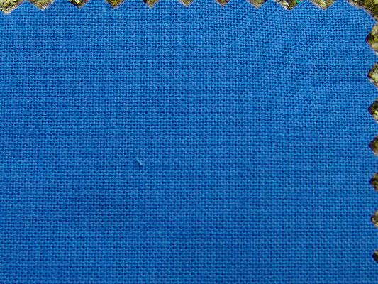 kornblumenblauer Baumwollstoff, 150 cm breit