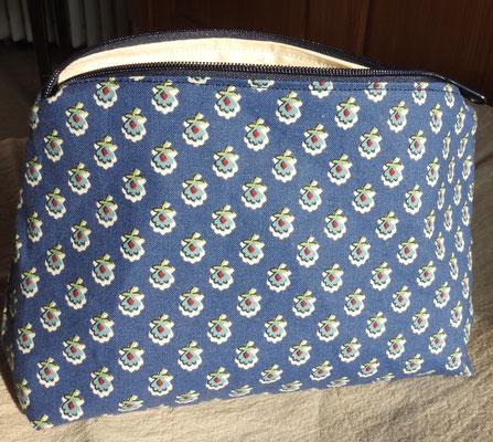 Reißverschluss-Täschchen Provence blau