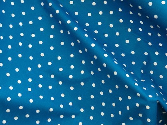 Punktestoff weiss auf blau
