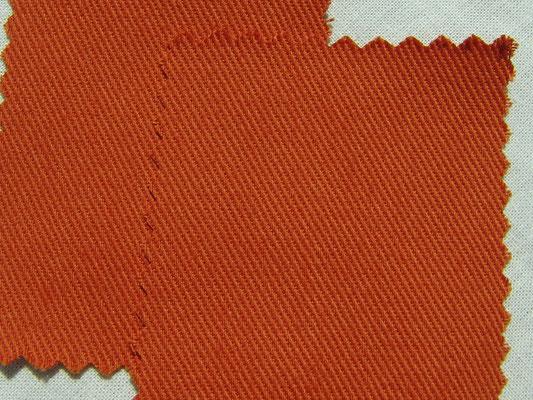 BW-Köper in terracotta, 220 cm breit, 16,90 €/m