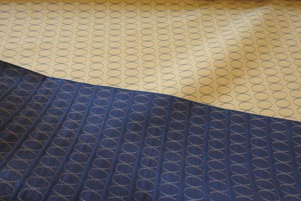 Möbelbezugstoff blau oder beige
