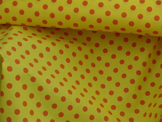 Punktestoff orange auf gelb
