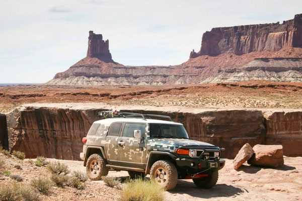 On The Edge Of White Rim In Moab, Utah
