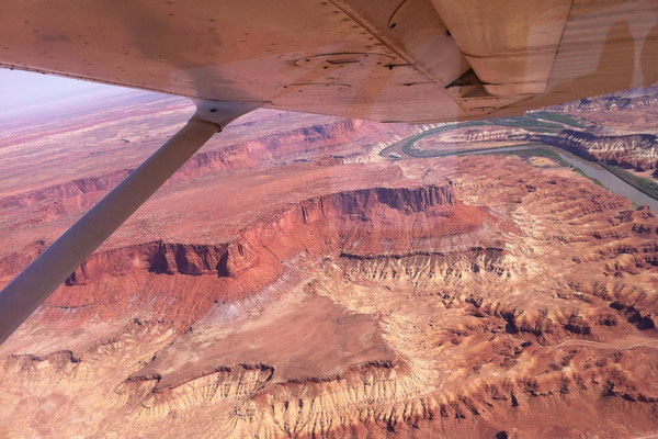 Aerial View Canyonlands National Park - White Rim - Utah