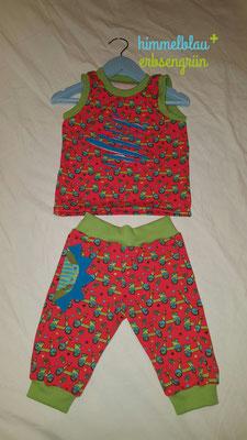sommerliches Set  * Sommerhose mit Faketasche    * ärmelloses Shirt  Gr 56 - 104  Jersey