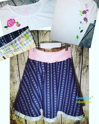 Trachtentellrock * Baumwolle * handmade Schrägband * ab € 40.-