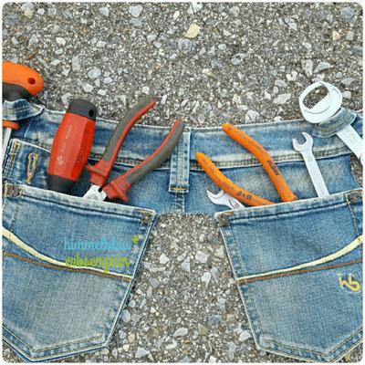 Upcycling Werkzeuggürtel , Weite verstellbar    € 12.- derzeit nicht auf Lager