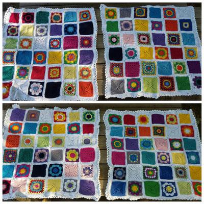 Granny Squares    Babydecken - nur zum Anschauen - unverkäuflich :)