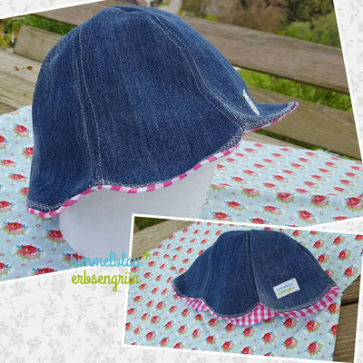 Upcycling Sommerhut   Jeans mit Baumwolle         € 18.-