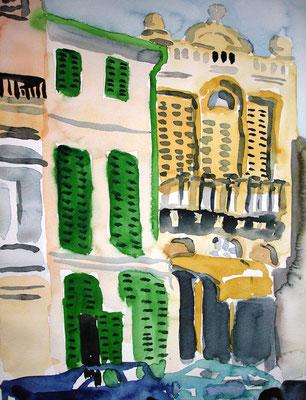 Porreras, 2007, 24 x 32cm, Aquarell