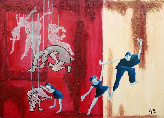 -Freiheit-Acryl-Mischtechnik auf Leinwand 50 x 70cm