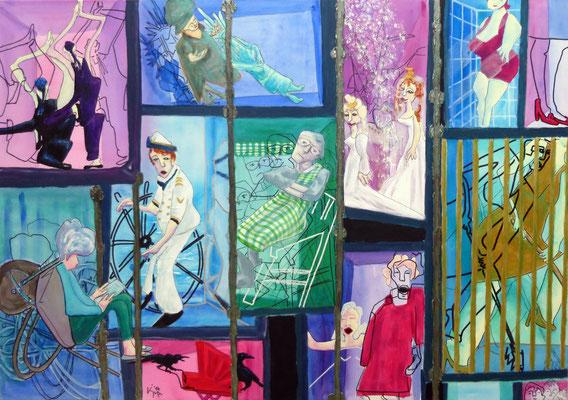 -Pater noster- 2014, Acryl auf Leinwand 70 x 100cm verkauft