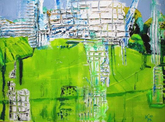 O.T. 2011, Öl, Spachtelmasse, Acryl, 60 x 80cm