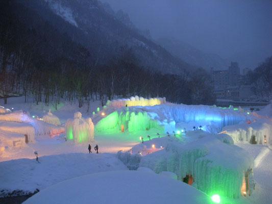 上川町。層雲峡氷瀑祭り