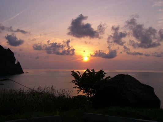 岩内町。雷電温泉からの夕日