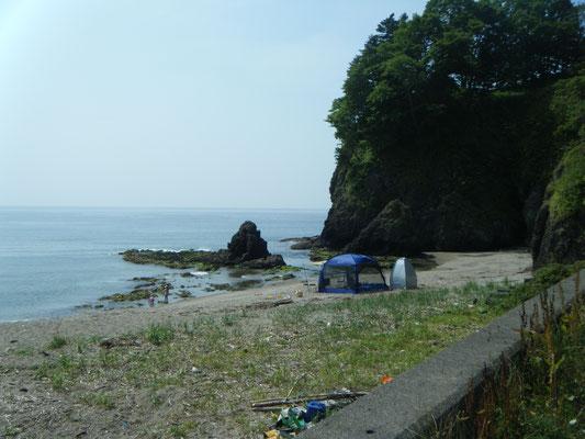 豊浦町。大岸シーサイドキャンプ場