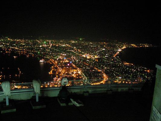函館市。函館山