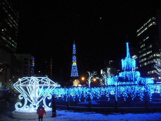 札幌市。大通公園のイルミネーション